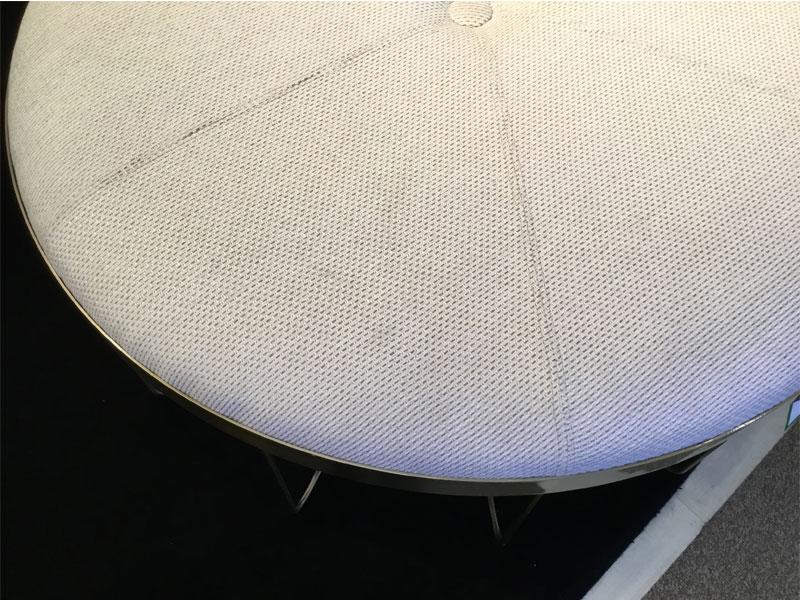 【187,000円より30%引】 スツール大 「ルイス」 布アイボリー/アウトレット&リワース横浜展示品