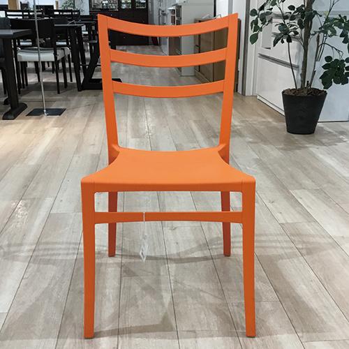 【46,200円より39%引】 椅子2脚セット  サブリナ  オレンジ /南船橋店展示品