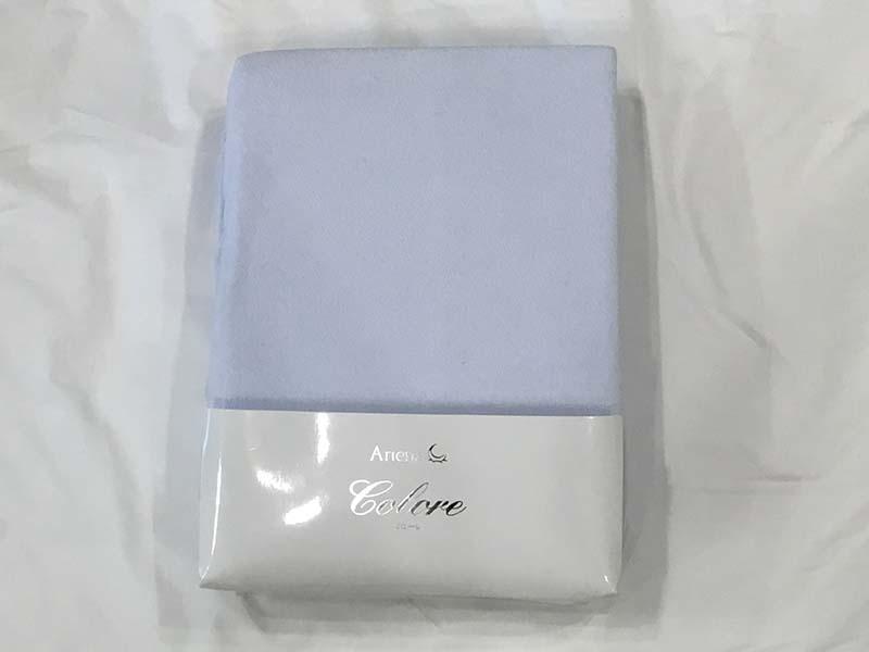 【8,400円より50%引】ボックスシーツ ダブルサイズ「コローレ パイル ブルー」アウトレット&リワース横浜在庫品