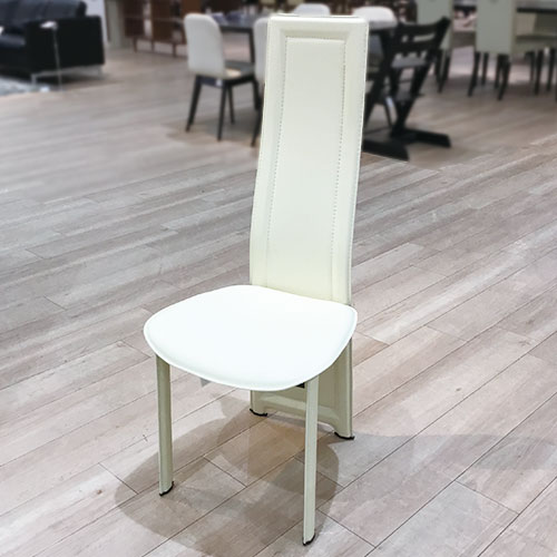 【79,200円より24%引】椅子4脚セット 8391N-R3 合皮WH#19/南船橋店展示品