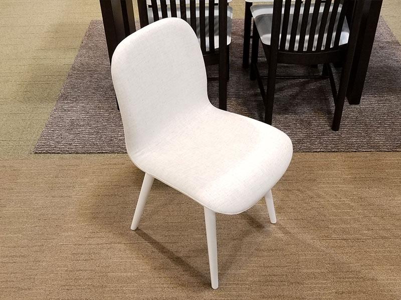 【67,200円より40%引】椅子 ジャストA 布アイボリー/WH 4脚セット数量限定お買い得品
