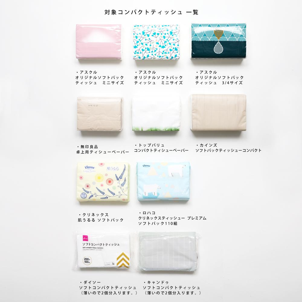 compact tissue case グレー