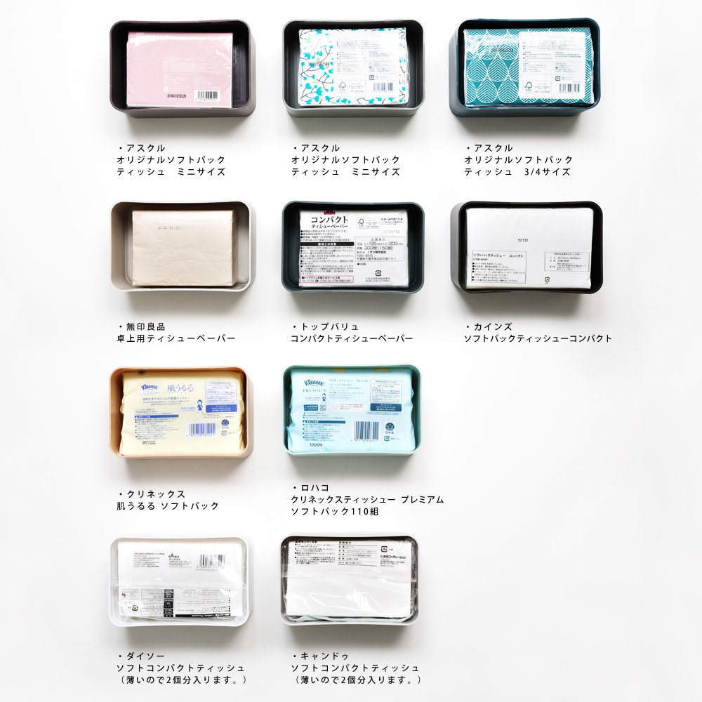 compact tissue case インディゴ