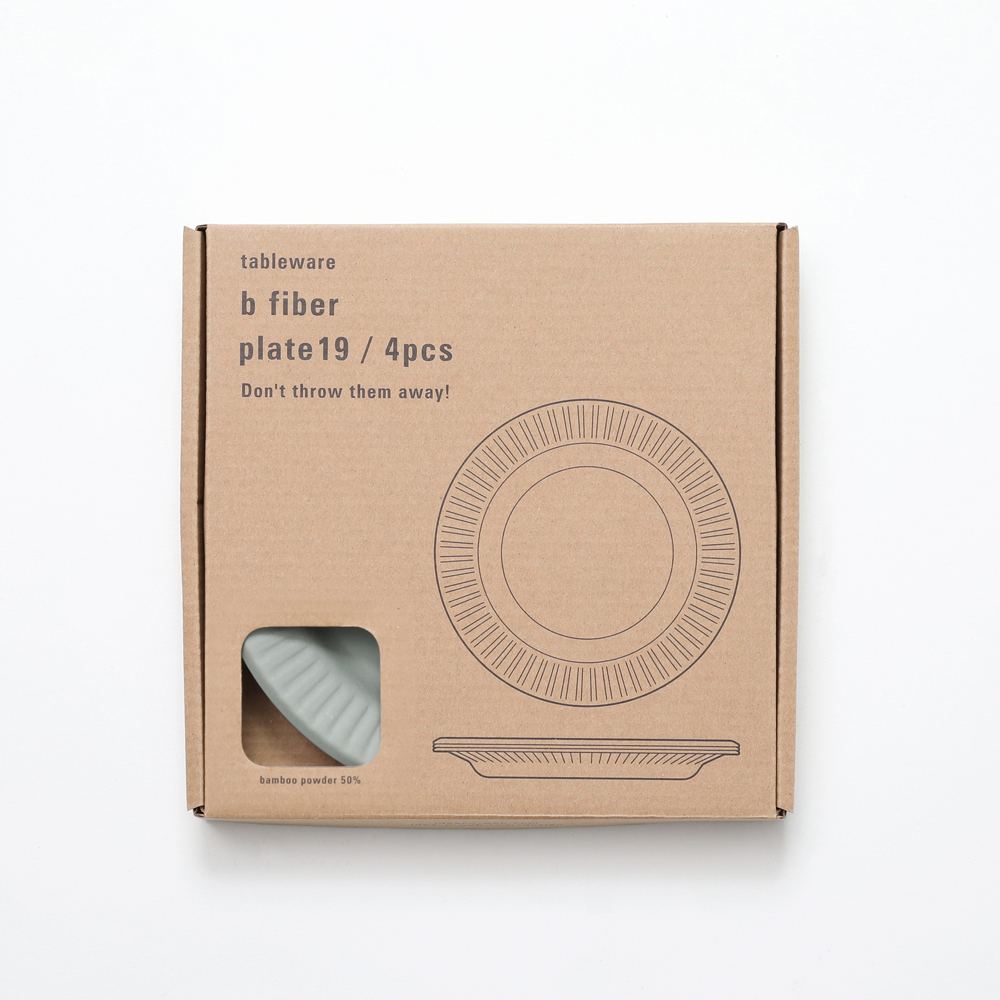 【MondayMarket】b fiber plate19/4pcs アッシュグレー