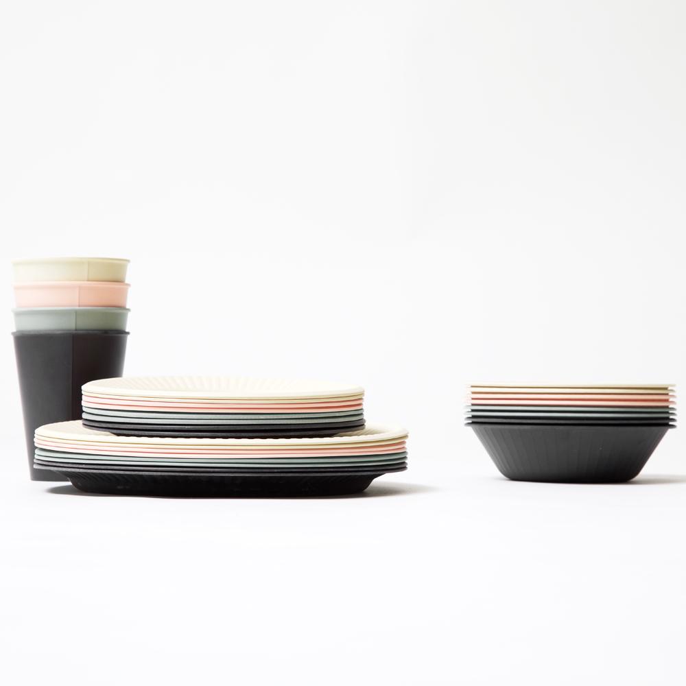 b fiber bowl/4pcs アッシュグレー