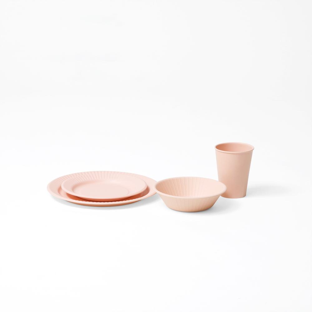 b fiber bowl/4pcs ピンク