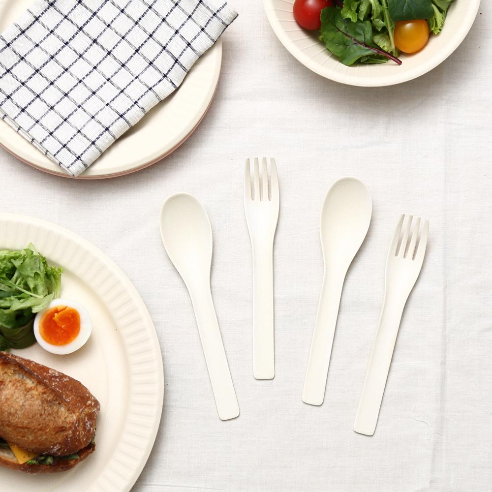【NEW】b fiber cutlery/2+2pcs オフホワイト