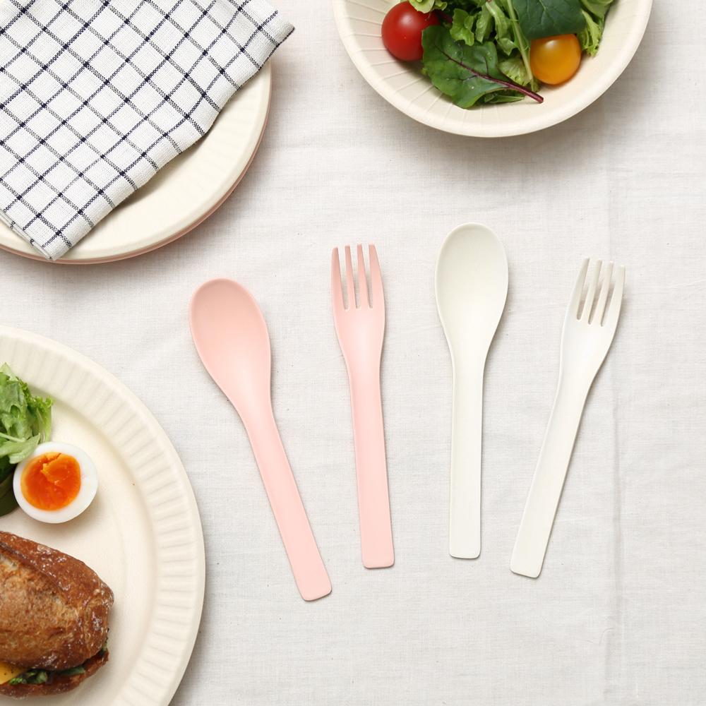 【NEW】b fiber cutlery/2+2pcs ピンク
