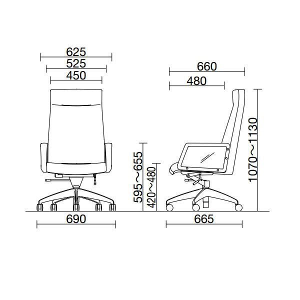 【日本製】【送料無料】 会議用チェア 本革 ハイバック オフィスチェア  [ノーリツイス] 事務椅子 ミーティングチェア ロッキングチェア 会議用チェア 会議用椅子 デスクチェア 高品質 オフィスチェア 回転椅子 LK型 LK-H8K 【smtb-tk】 【RCP】