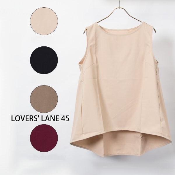 【セール】クレープツイルノースリーブブラウス(LOVERS' LANE 45)【ナチュラル服】