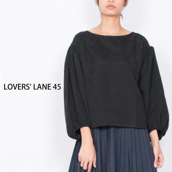 【セール】ピーチツイルバルーンスリーブブラウス(LOVERS' LANE 45)【ナチュラル服】