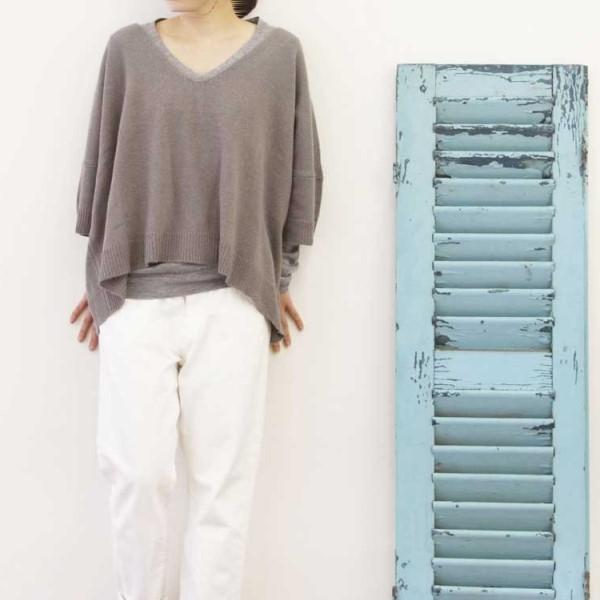 【セール】カラードシンプリーニットPO(ease)【ナチュラル服】