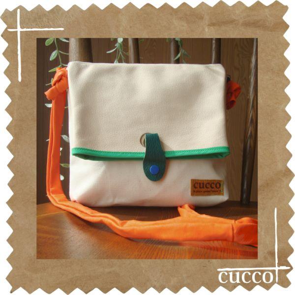 busuta オフホワイト(cucco)【作家ものハンドメイドバッグ】