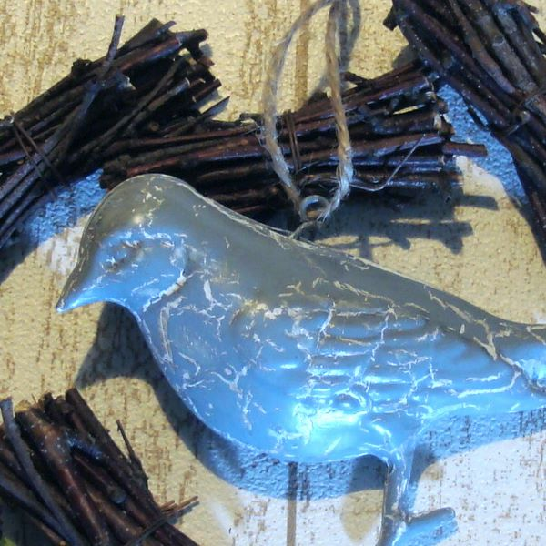 【セール】アン・ジュエ 小鳥のオーナメント5個セット(Ruban de Tiara)【ナチュラル雑貨】