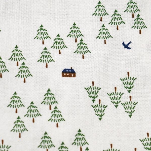 【新着セール】森の中の小さなカフェプリントPO(north object de petit...)【ナチュラル服】