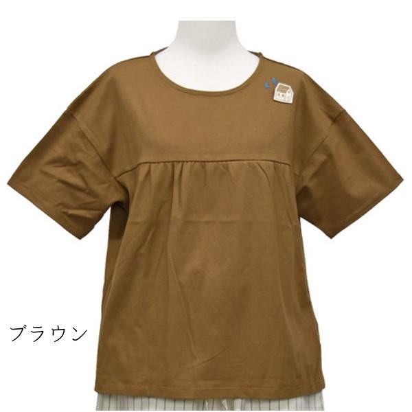 【新着セール】刺繍ブローチ付き切替PO(north object de petit...)【ナチュラル服】