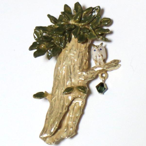 【セール】アーヴィングの木ブローチ(PalnartPoc)