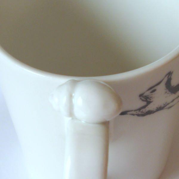 リスとどんぐりのマグカップ