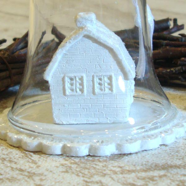 【セール】雪のドームハウス4個セット(Ruban de Tiara)【ナチュラル雑貨】