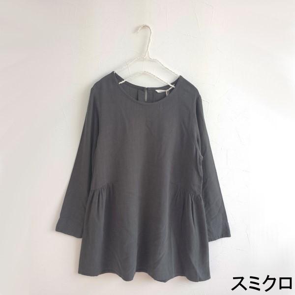 【セール】レーヨン麻ウエストギャザーチュニック(peniphass)【ナチュラル服】