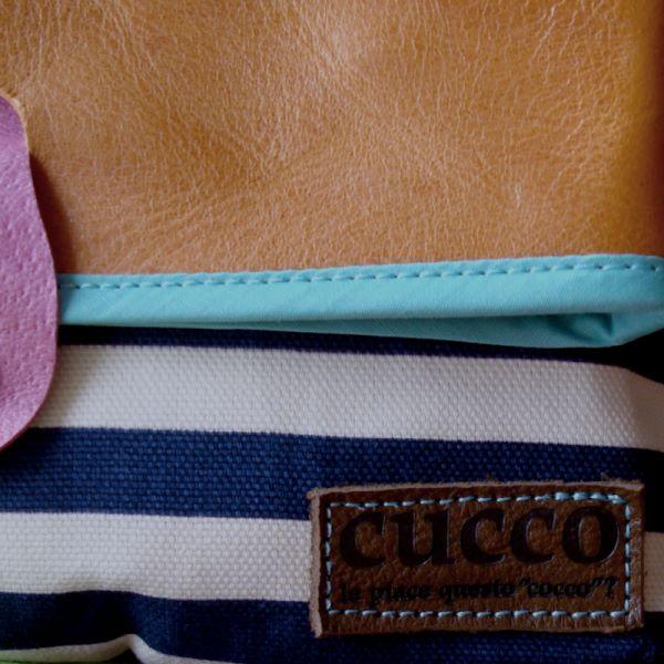 busutaボーダー(cucco)【作家ものハンドメイドバッグ】