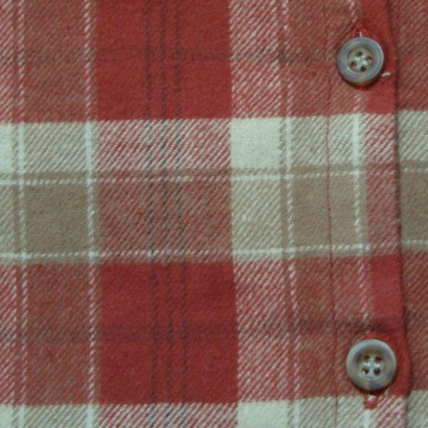 【セール】コットンスラブネップチェックシャツチュニック(PENIPHASS)【ナチュラル服】