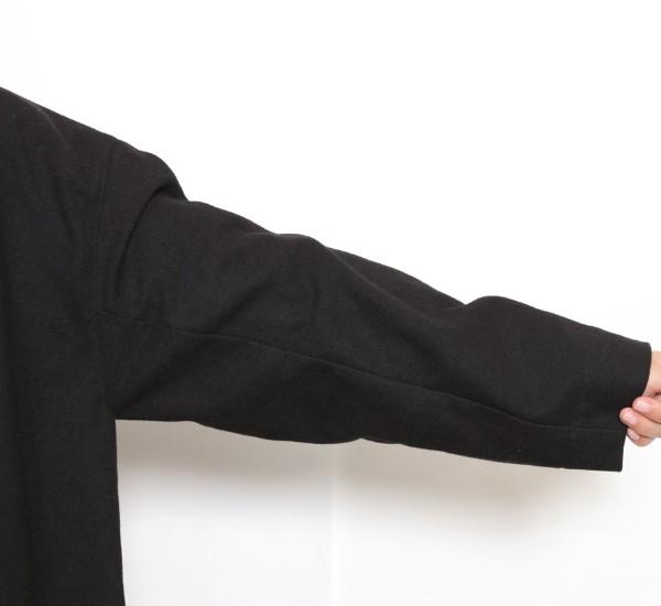 【セール】起毛ムジ ロングコート(ATELIER EQUAL)【ナチュラル服】