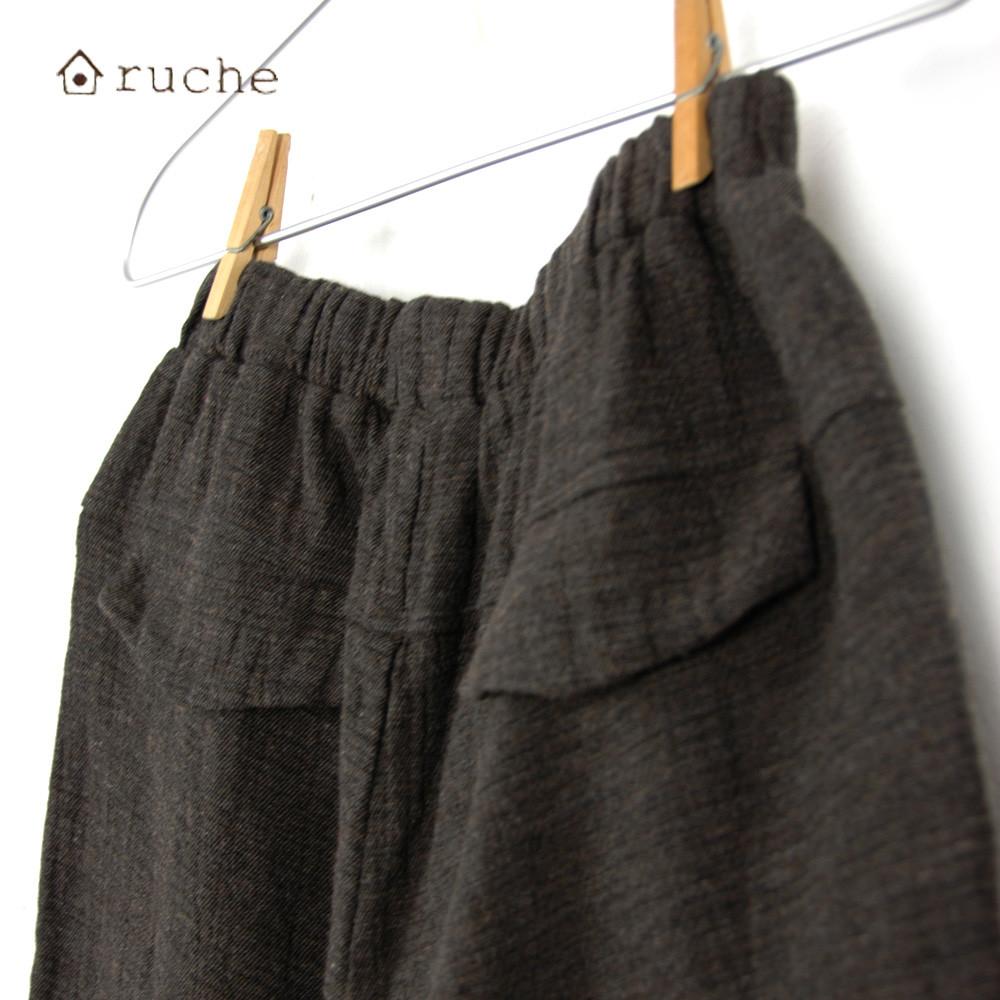 【セール】パッチポケットガウチョパンツ (ruche)【ナチュラル服】