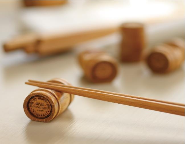 樽材夫婦箸+樽型箸置きセット(ギフトボックスサービス)