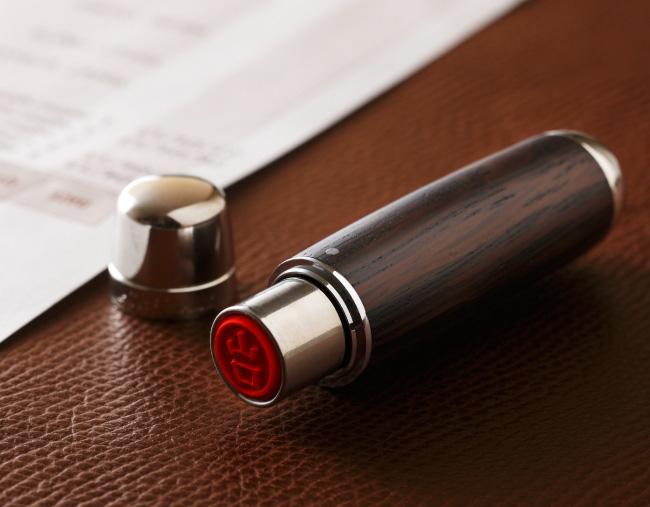 樽材シルバーキャップボールペン PURE MALT & 樽材ネーム印 PURE MALT