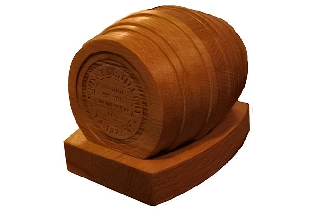 ウイスキーを楽しむコースターセット(樽型)