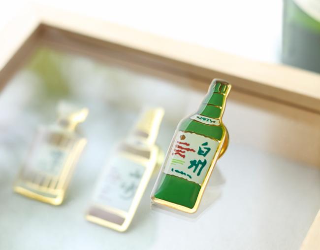 ボトルデザインピンバッチ【シングルモルトウイスキー白州】