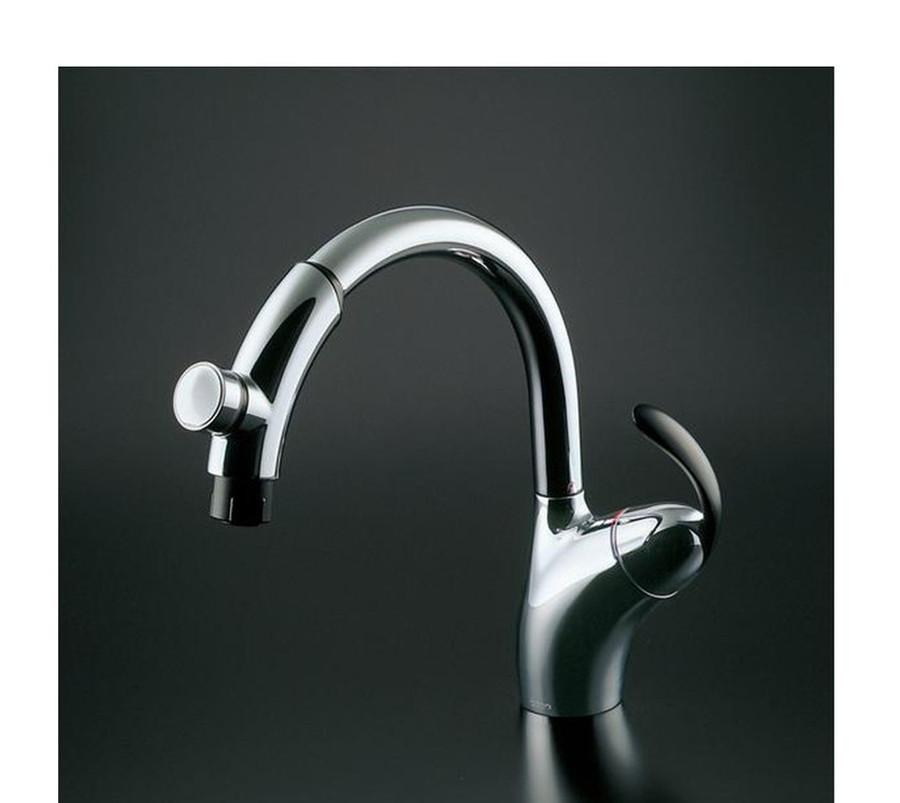 【TKN34PBTRR】旧品番:TKN34PBTN TOTO<br>台付シングル混合水栓(タッチ、ハンドシャワー)<br>シリーズ名:ニューウェーブ<br>☆タッチスイッチ、ハンドシャワー付
