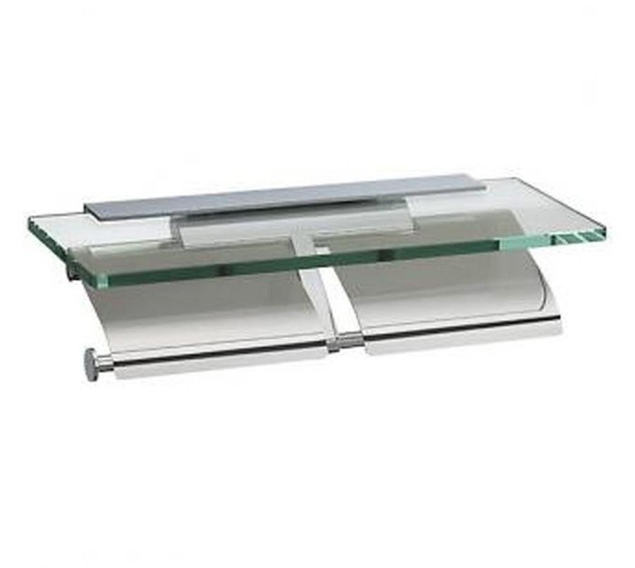 【SC-27-M-XC】河淳 ガラス棚付き2連紙巻器