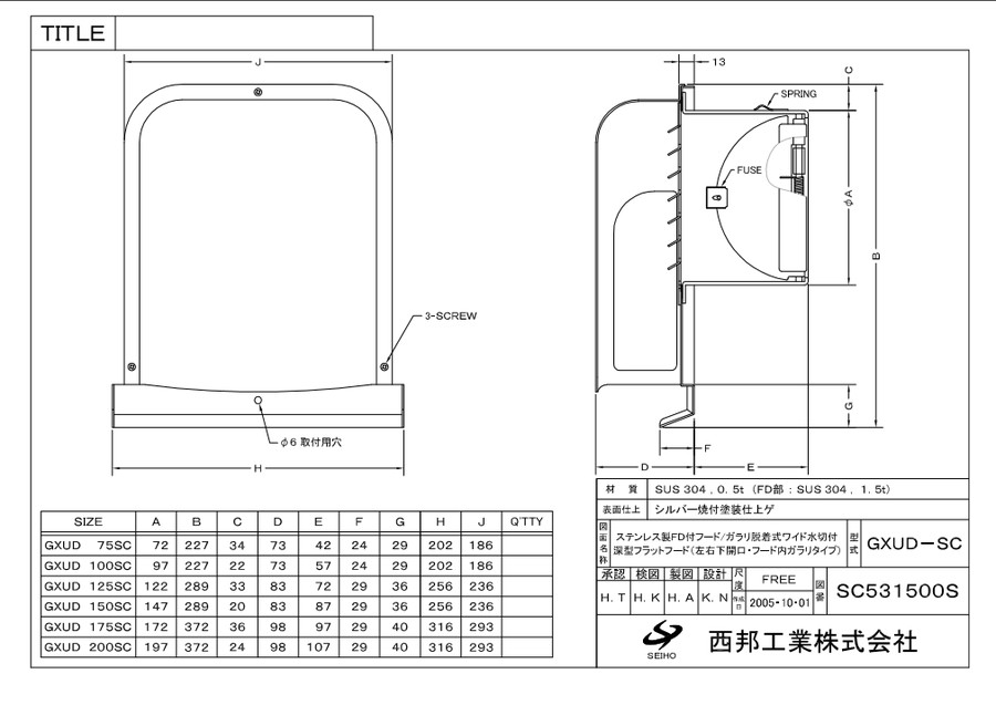 【GXUD175SC】西邦工業