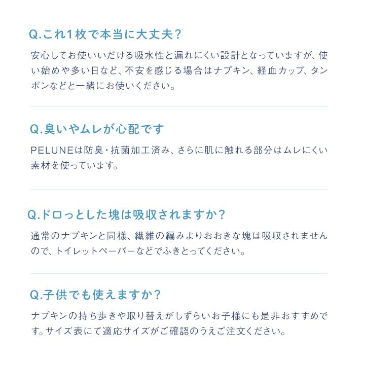 【3枚セット】PELUNE ペルネ サニタリーショーツ_SST21CHN-3