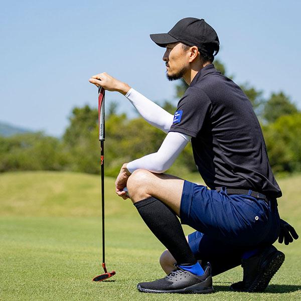 【同サイズ2足組】Runtage アスリートラウンドPRO(プロ)v2 ゴルフソックス_IF37-2