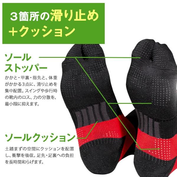 Runtage アスリートラウンドPRO(プロ) ゴルフソックス ホットセル【発熱繊維使用】_RSSC07H
