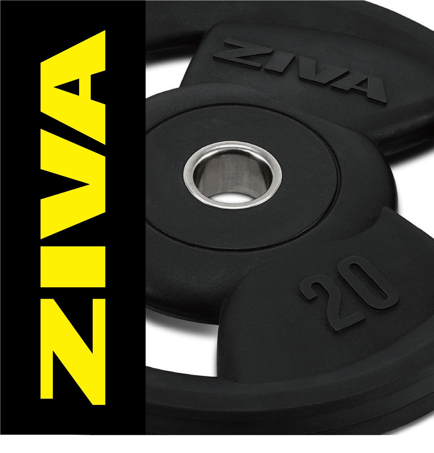 ラバーグリップディスク7枚セット(1.25kg〜25kg)/ディスク7枚セット〈業務用〉《ZIVA(ジーヴァ)》