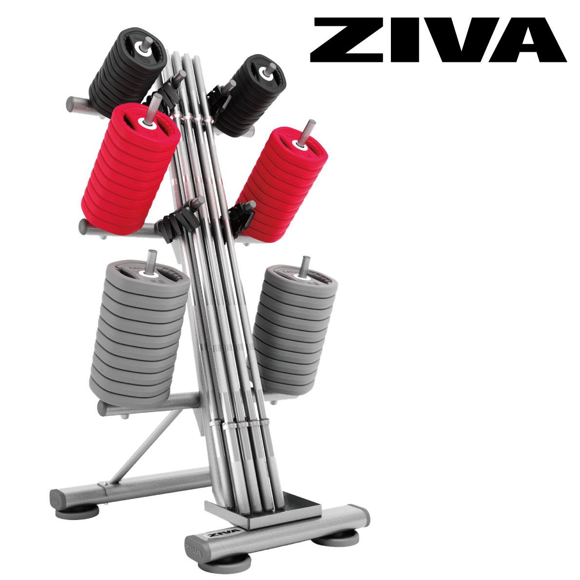 10ペアスタジオバーベルラック/バーベルラック〈業務用〉《ZIVA(ジーヴァ)》