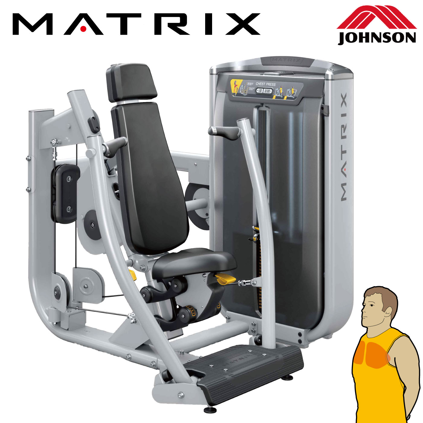 G7-S13-V2(チェストプレス)〈アルトラV2シリーズ〉/業務用ストレングスマシン〈業務用MATRIX〉《ジョンソンヘルステック》