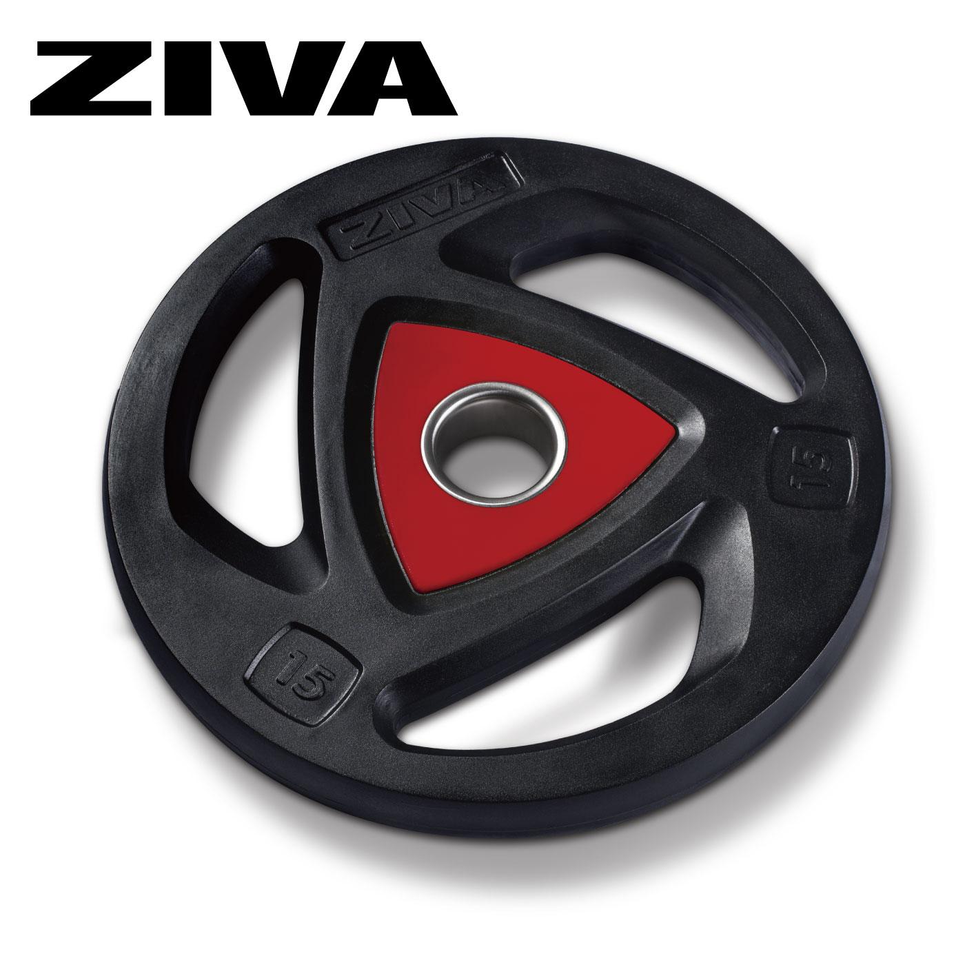 ウレタングリップディスク7枚セット(1.25kg〜25kg)/ディスク7枚セット〈業務用〉《ZIVA(ジーヴァ)》
