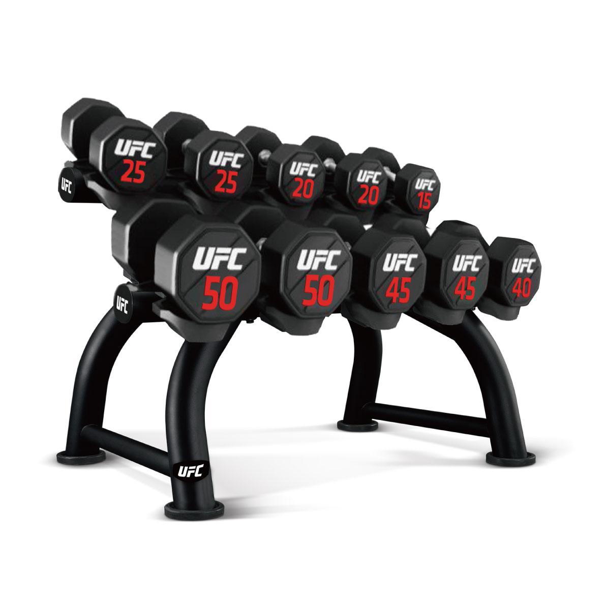 ダンベルラック/ダンベルホルダー5ペア収納(UFC-HF05-5103)〈業務用〉《総合格闘技UFCオフィシャル》