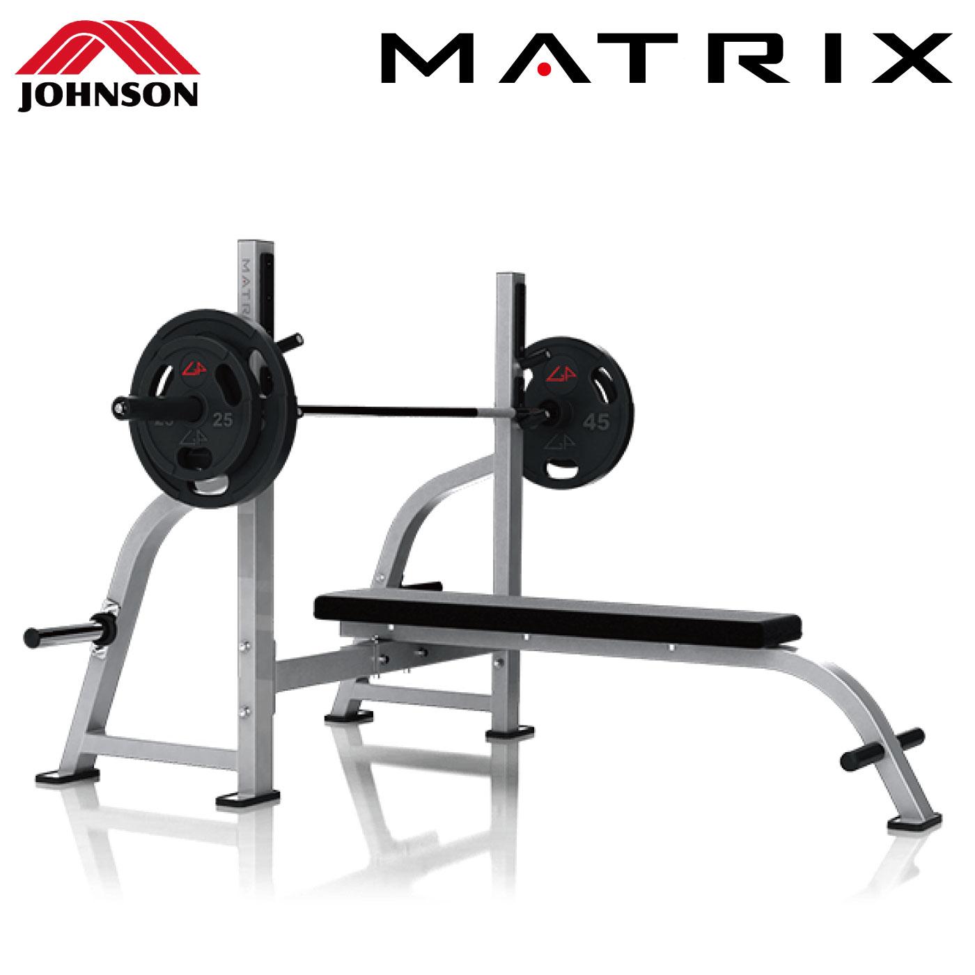 G1-FW163(オリンピックフラットベンチ)〈G1シリーズ〉/業務用ストレングスマシン〈業務用MATRIX〉《ジョンソンヘルステック》