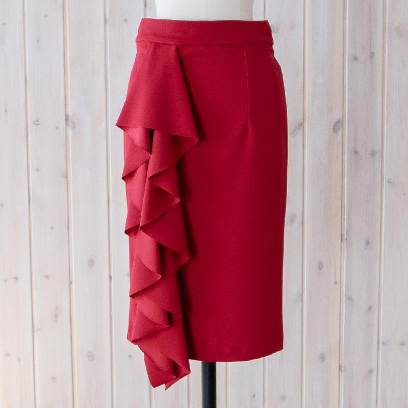 フロントフリルタイトスカート