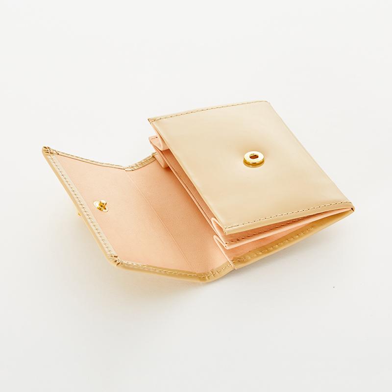 【ORDER ITEM】LASKA オリジナルコインケース(エナメルマロンベージュ)