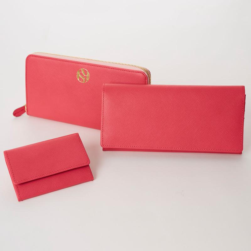 【ORDER ITEM】LASKA オリジナル長財布(サフィアーノピンク)