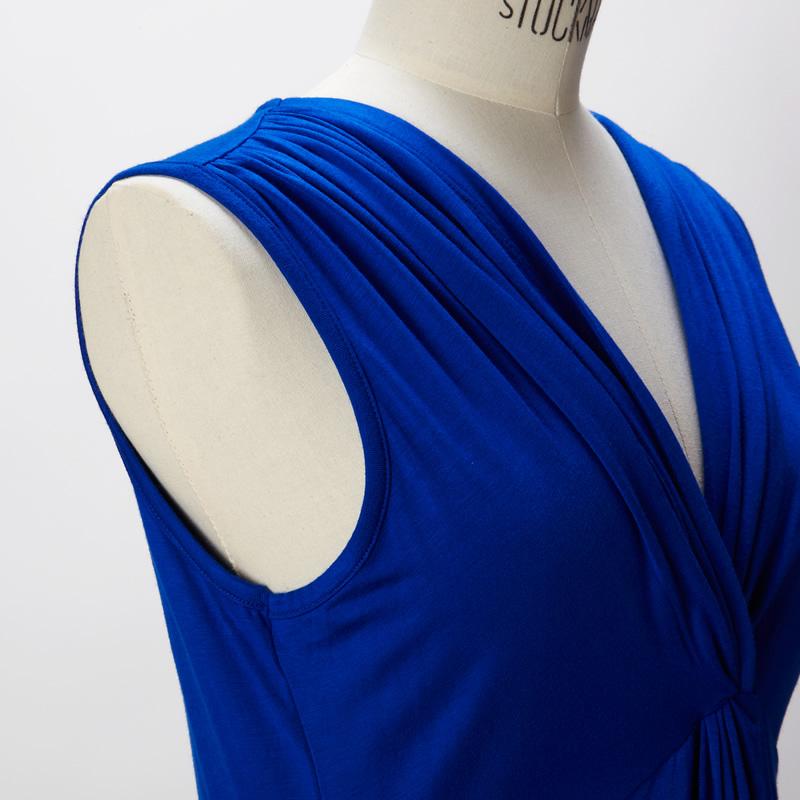 【DRESS 7月号掲載】【CREA 5月号掲載】【HERS 4月号掲載】センタードレープドレス ブルー