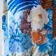 サマープリントドレス(ブルー)
