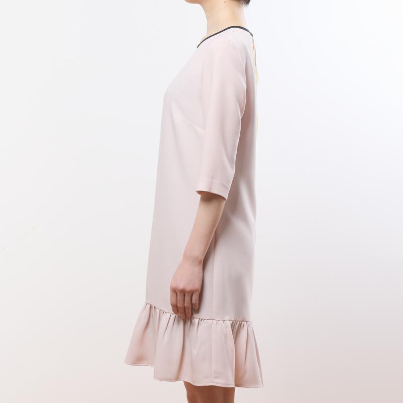 フリル裾ワンピース(ベビーピンク)